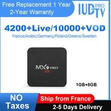 Europe IPTV Box MX9pro 1 Year IUDTV Pro Code Android 8.1 Smart Tv Box IPTV Sweden Spain UK German Italy Greek India France IP TV цена и фото