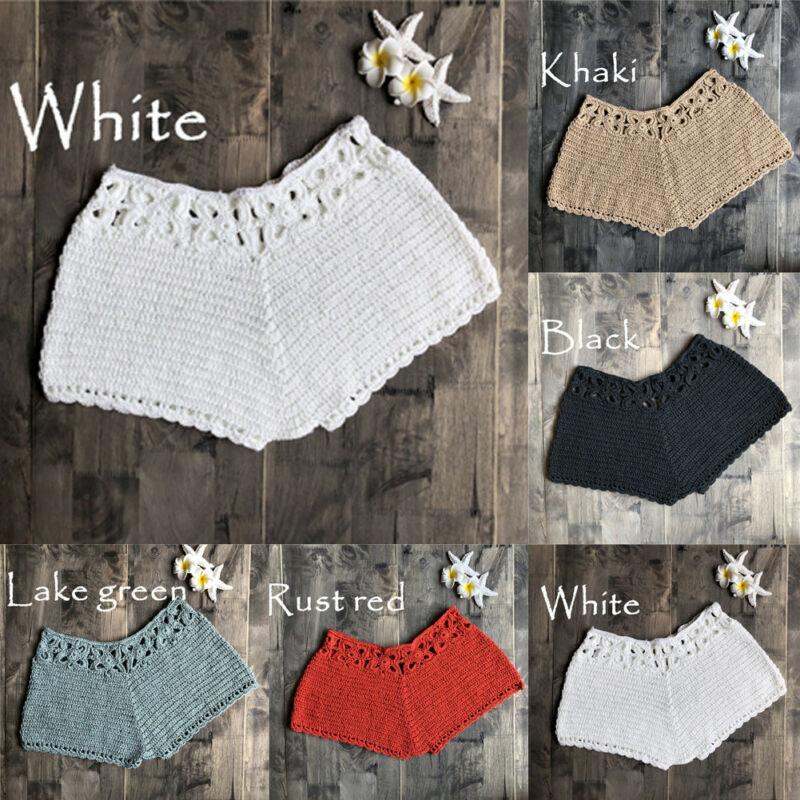 Fashion Women's Casual Summer High Waisted Ladies Short Mini Knitwear Slim Holiday Beach Sports Shorts Hot Pants Trousers