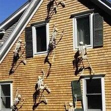مخيف هالوين الديكور تجهيزات حفلة الهالوين مضيئة معلقة الديكور في الهواء الطلق حفلة الرعب مضيئة المنقولة هيكل جمجمة