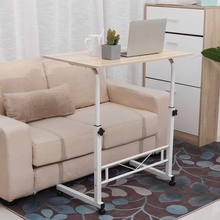 31x20/16 in Adjustable Standing Computer Desk Table Portable Laptop Desk Rolling Laptop Table Bedside Sofa Home Office Furniture