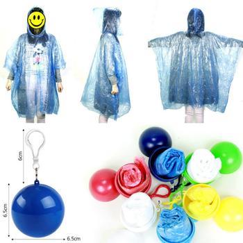 Poręczny płaszcz przeciwdeszczowy płaszcz przeciwdeszczowy płaszcz przeciwdeszczowy z kapturem jednorazowy płaszcz przeciwdeszczowy z brelokiem piłka wodoodporna najnowszy tanie i dobre opinie CN (pochodzenie) RainWear Single-osoby przeciwdeszczowa Z tworzywa sztucznego Dorosłych Turystyka Uniwersalny Disposable raincoat