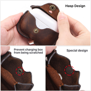 Image 5 - Retro Genuine Leather Case for AirPods Pro Shockproof Cover For AirPods 3 Charging Box case for Airpod 2020 Pro Dustproof Case
