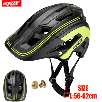 BATFOX Bicycle Helmet Ultralight Cycling Helmet Road Mountain MTB Helmet Casco Ciclismo Integrally-molded Bike Helmet 56-62 cm c01 02 ultra light road bike pneumatic helmet mountain mtb helmet the overall molded bicycle helmet bicycle riding equipmen