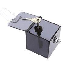 Safe Holder box BDSM Bondage Collar for Adult Games Grey Acrylic Box New