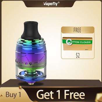 Free gift Vapefly Galaxies MTL Squonk RDTA 2ml capacity atomizer with anti-heat design vape tank vs Vapefly Brunhilde RTA
