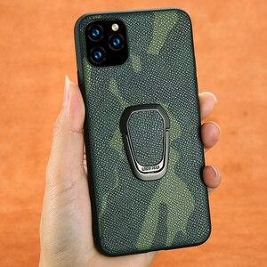 Image 1 - Custodia Fhx 15U mimetica in vera pelle per iPhone 11 11 Pro Max cavalletto magnetico di lusso per iPhone X XS MAX XR