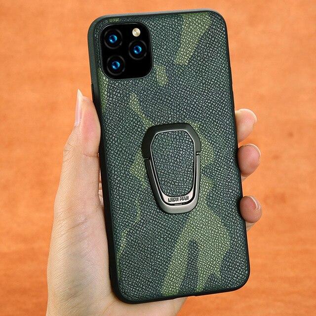 Custodia Fhx 15U mimetica in vera pelle per iPhone 11 11 Pro Max cavalletto magnetico di lusso per iPhone X XS MAX XR