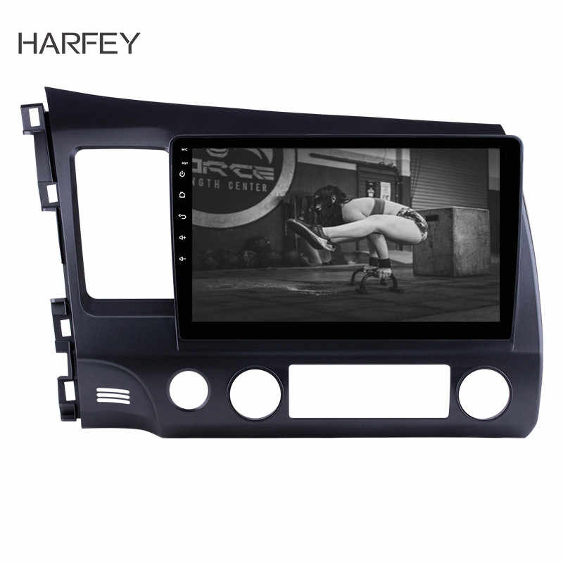 "Harfey 2 din Car radio GPS Navigation Multimedia player audio stereo for Honda Civic Bluetooth 10.1"" Quad-Core HD Autoradio"