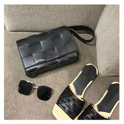 حقيبة يد فاخرة للنساء حقائب مصمم متماسكة حقيقية جلد طبيعي حقيبة كتف المرأة حقيبة ساعي