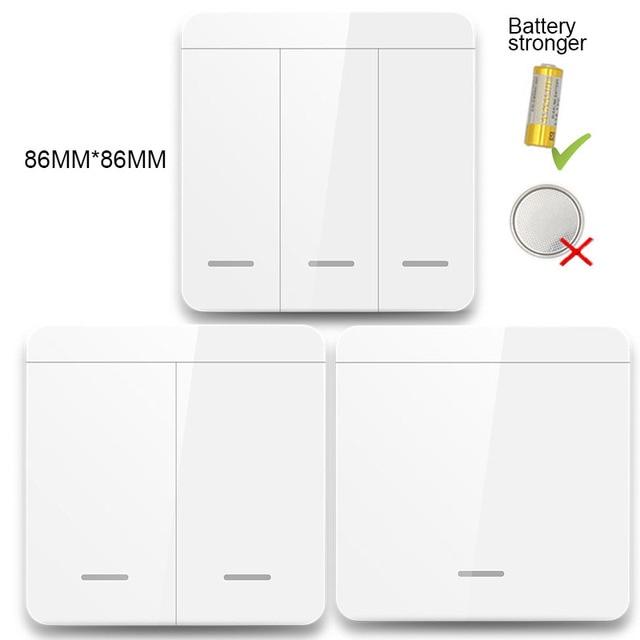 Умный универсальный беспроводной выключатель с кнопкой, 433 МГц, 10 А, 250 В переменного тока 6