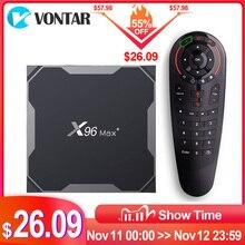2020 X96 ماكس زائد S905X3 مربع التلفزيون الذكية أندرويد 9.0 صندوق التلفزيون 4GB 64GB 4K مشغل الوسائط المزدوجة واي فاي X96 ماكس مجموعة صندوق فوقي 4GB 32GB X96Max