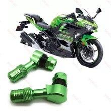 For Kawasaki Z1000 Z900 Z800 Z650 Z400 Ninja 400 650 Motorcycle Tyre Valve Valve Stem Gas Nozzle Degree Angle Valve Adaptor