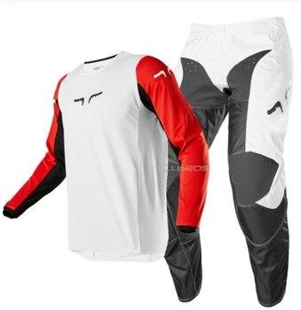 Free shipping 2020 NAUGHTY FOX MX/ATV Racing Race 180 Prix MX Offroad Jersey Pant Motocross ATV Adult Gear Combo White Black Red