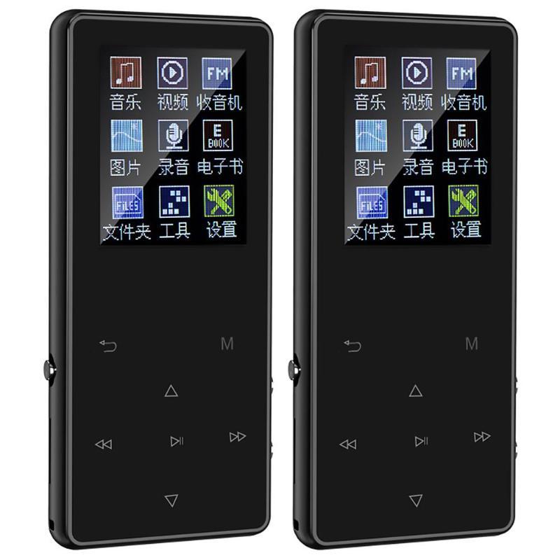 Portable Wireless MP3 MP4 Music Player FM Hi-Fi Lossless K1 1.8 Inch Screen MP3 Zinc Alloy Body Playing E-book