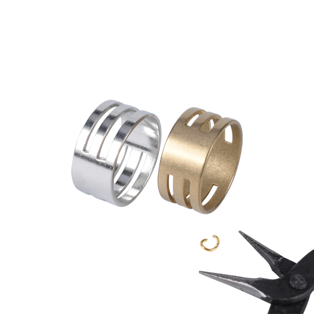 Stainless Steel Jump Ring Open Closing Copper Steel Color Finger Rings Jewelry Making Tools