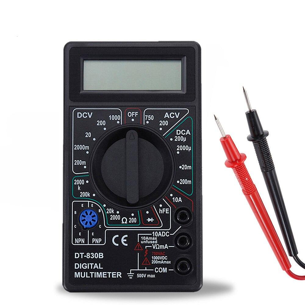 Oauee 2 couleur LCD multimètre numérique AC/DC 750/1000V numérique Mini multimètre sonde pour voltmètre ampèremètre Ohm testeur mètre