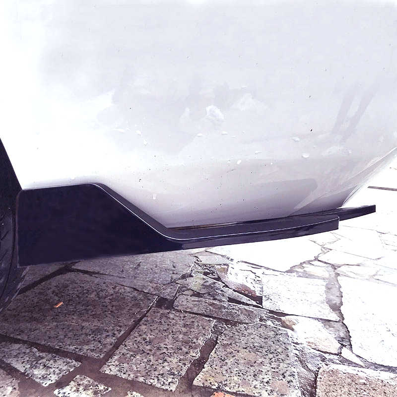 Universal Car Rear Bumper Lip Wrap Angle Carbon Surface Type LK Splitters Diffuser Spoiler Body Kit Scratch Protector