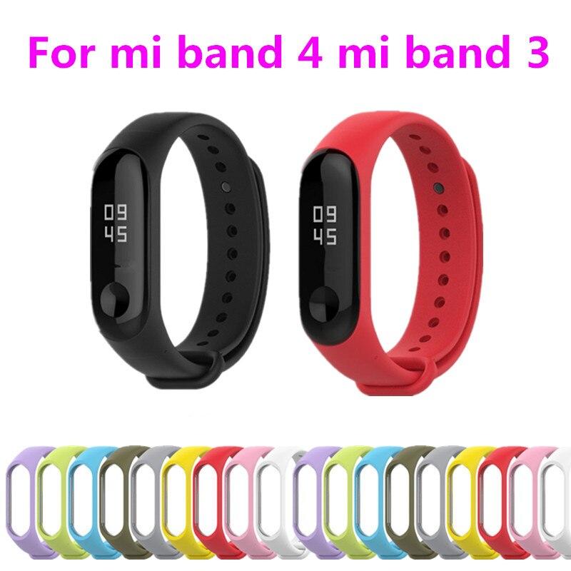 Mi Band 4 Strap Bracelet Silicone Wristband Xiomi Band Black Smart Miband 4 Band Accessories Wrist Strap And For Xiaomi Mi Band3