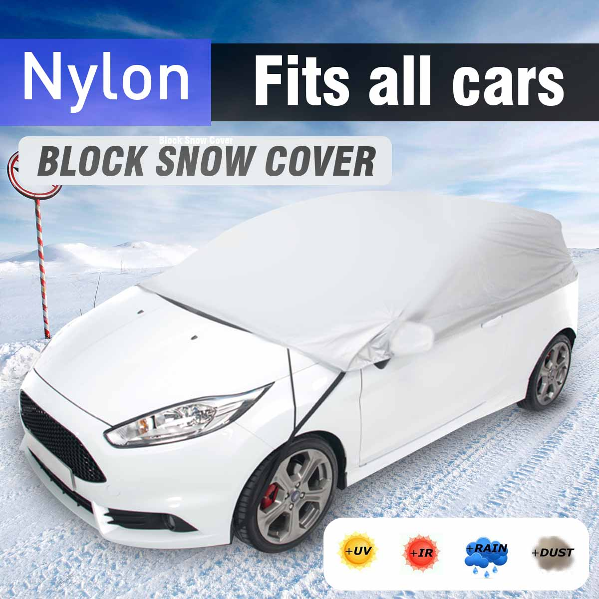 Universal Car Snow Cover Sun Shade Snow Ice Protection Dustproof Waterproof Winter Outdoor Protective Covers Size M L XL