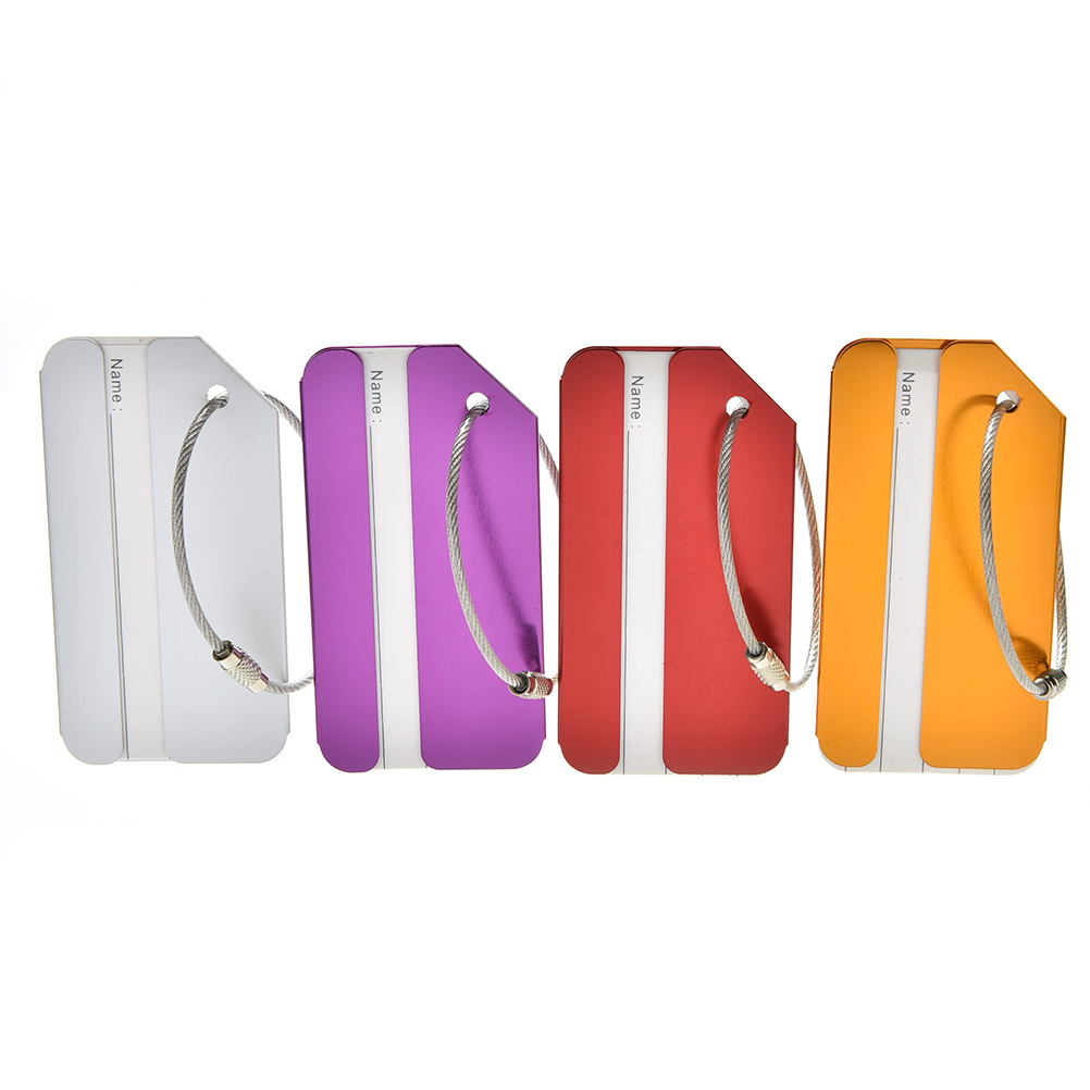 1 Pcs Metal Luggage Tags Labels Strong Aluminum Baggage Holiday Travel Identity