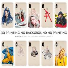 Soft TPU Case Cover For Coque Xiaomi Redmi 4X 4A 6A 7a Y3 K20 5 Plus Note 8 7 6 5 Pro Billie Eilish Hot Music Singer Star(China)