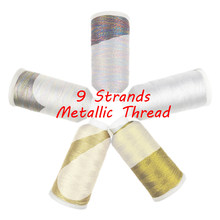 Sanbest 9 plies metallic weaving thread 쥬얼리 스레드 수제 diy 팔찌 string stitch thread weave yarns new(China)