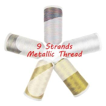 Sanbest 9 слоев металлического плетения нитей ювелирных изделий нитей ручной работы DIY браслет строчка стежка нить плетение нитей Новинка