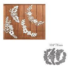 Corte de metal morre molde decoração flor scrapbook papel ofício faca molde lâmina punch stencils morrer