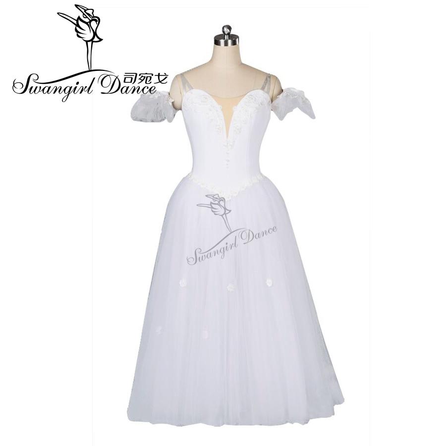 Adult white fairy ballet tutu dress girls professional tutu dress performance ballet costumes BT8909