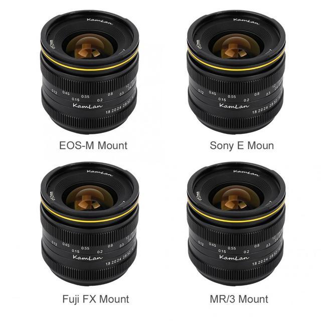 Kamlan 21mm F1.8 Portable Waterproof Mirrorless Camera Manual Fix Focus Prime Lens for Fuji FX/ M4/3  Manual Focus Lens