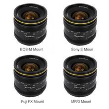 Kamlan lente principal de foco fijo Manual para cámara sin Espejo, impermeable, portátil, 21mm, F1.8, para Fuji FX/ M4/3, lente de enfoque Manual