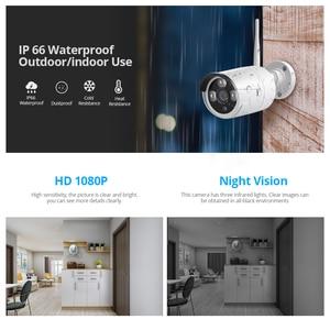 Image 4 - Fuers 4CH güvenlik kamerası güvenlik sistemi kiti WIFI kablosuz NVR kiti 1080P IR gece görüş açık IP kamera Video gözetim seti