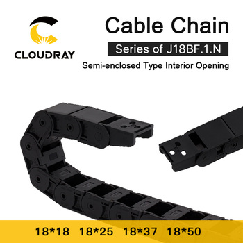 Cloudray Cable Chain Semi Enclosed Interior Opening 18x18 18x25 18x37 18x50 Drag Plastic Towline Transmission