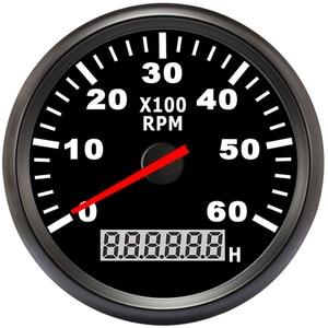 Image 1 - 85mm เรือรถ TACHOMETER, auto มอเตอร์ TACHOMETER สำหรับเครื่องยนต์ดีเซลเบนซินสีแดง 0 9990 RPM 12 V 24 V Lap TIMER เมตร