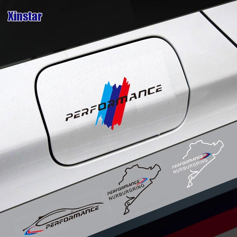M Power Performance car tank cap sticker for bmw E36 E39 E46 E60 E61 E64 E70 E71 E85 E87 E90 E83 F10 F20 F21 F30 E80(China)