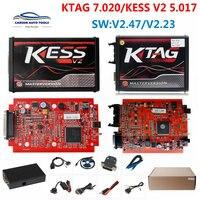 KTAG 4 LED V2.23 V7.020 האיחוד האירופי אדום ECM טיטניום קס V2 V2.47 V5.017 באינטרנט מאסטר גרסת BDM מסגרת ECU OBD2 רכב/משאית מתכנת