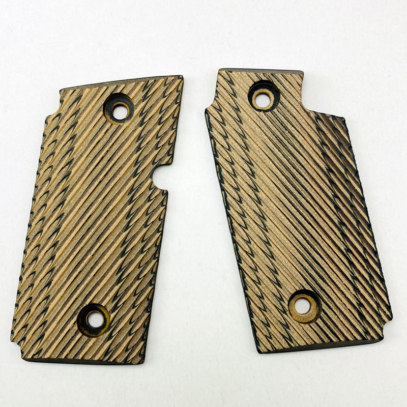 2Pieces P238 Grips Natural Wood Material Knife Handle Grips Patch Custom Grips CNC Handle Grips