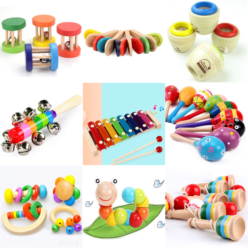 Baby Clapper Montessori Educational Toy Wooden 3D Puzzle Sound   Wooden Sensory Jigsaw Brain Training Intellectual Learning Toy