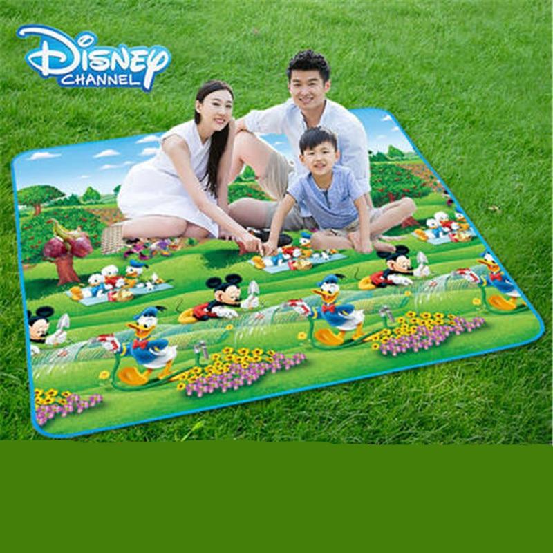 Disney Mickey Mouse Picnic Mat Moisture-proof Mat Beach Mat Outdoor Lawn Wild Thickened Cloth Tent Mat Kids Playmat