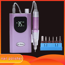 Rechargeable Nail Drill 35000RPM Portable Electric Nail Drill Machine Manicure Set File Nail Pen Machine Kit Nail Grinder Bits