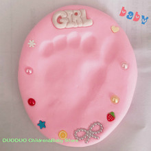30g Baby Footprint Ultra Light Stereo Baby Care Air Drying Soft Clay Baby Hand Foot Imprint Mud Casting DIY Toys Paw Print Pad