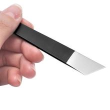 Острый нож для работы с кожей Инструменты для самостоятельного изготовления кожаного ремесла Безопасный нож для резки отрезанные тонкие н...