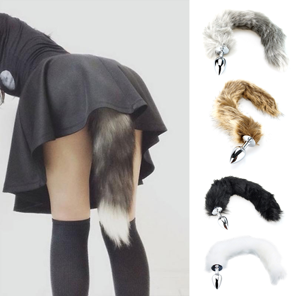 Metal Feather Anal Toys Erotic Fox Tail Sex Toys For Woman Anal Toys Adult Sex Products Adult Games Accessories Intimate Goods