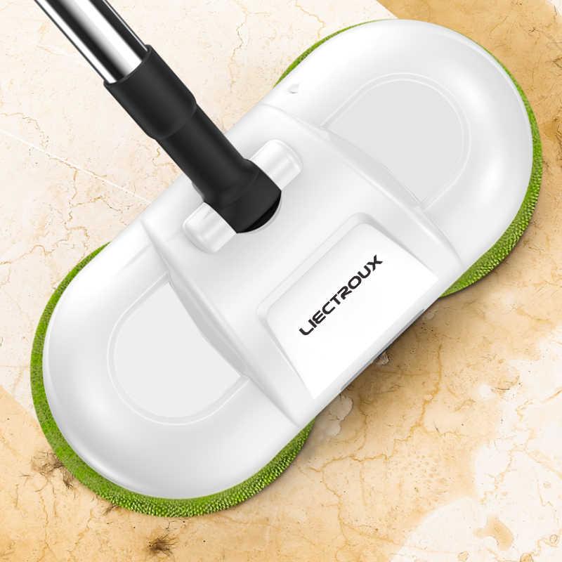 LIECTROUX F528A ручная беспроводная электрическая швабра для пола и стекла, мыть и воск, одно нажатие для спрей, влажная и сухая уборка,тряпка для полировки полов,одноручная операция,резервуар для воды для дома робот