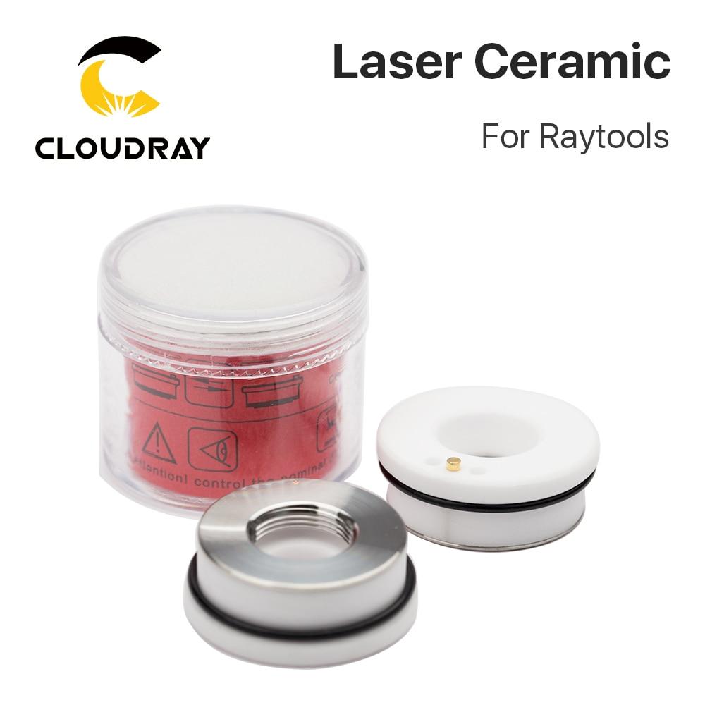 سرامیک لیزری Cloudray 32mm / 28.5mm OEM Raytools دارای نگهدارنده نازل Lasermech Bodor برای سر برش لیزر فیبر
