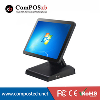 Cheap 15 Inch All In One Touch Screen Pos Pc Cash Register Terminal Point Of Sale Quad Core Fanless Pos Machine