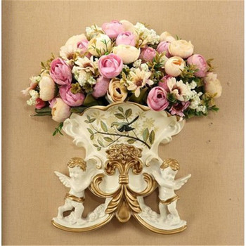 European style Angel wall vase family living room background wall decoration home decoration accessories