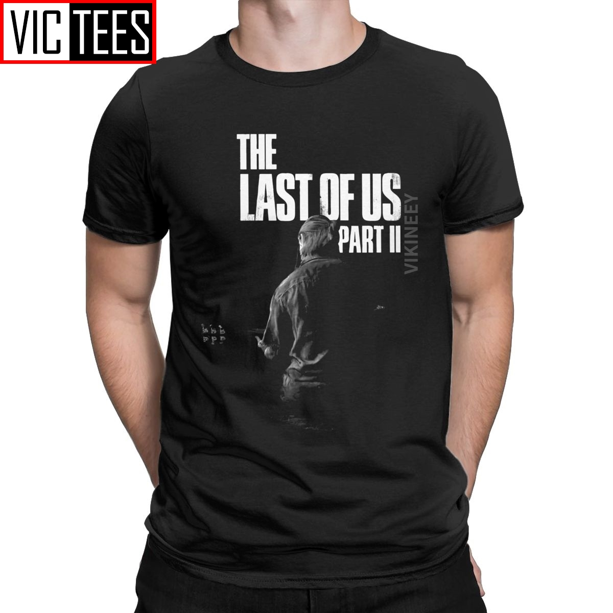 The Last Of Us Winter Song Tshirt Men Pure Cotton T-Shirt Ellie Fireflies Joel Tlou Video Game Oversized image