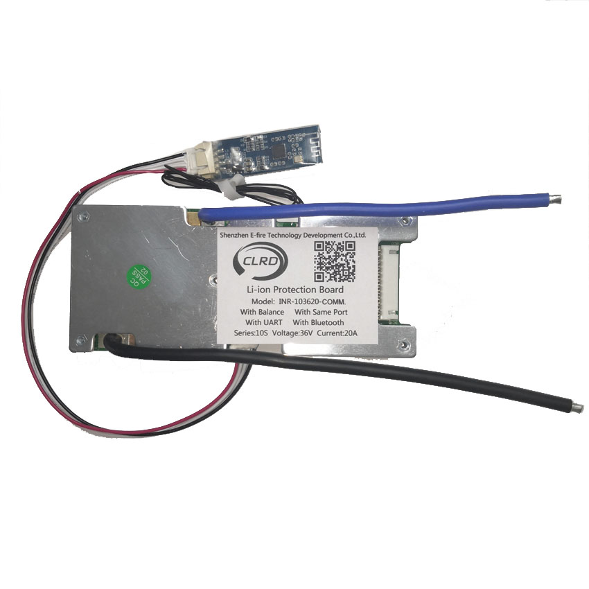 10s 36v 20A 30A 40A 50A 60A Lithium Ion Smart Bms With Bluetooth Module Bms With UART Communication Port