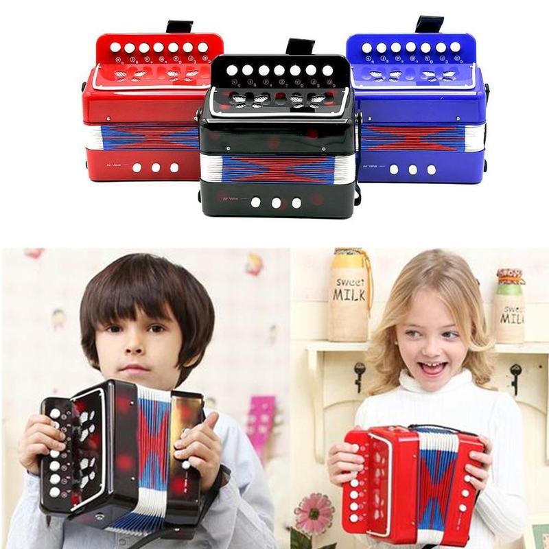 High Quality Mini Children's Accordion Children's Black Accordion Teaching Red / Instrument / Performance Instrument Music Z8D4